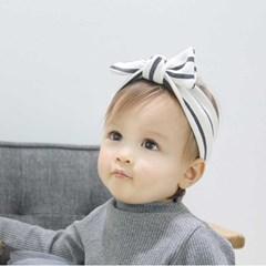 쁘띠뤽스 줄무늬 리본 헤어밴드