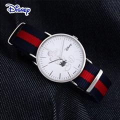 디즈니 미키마우스 남여공용 나토밴드 손목시계 OW8140WH