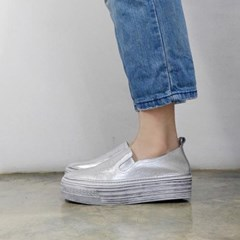 kami et muse 4cm tall up vintage leather slip on_KM18s017