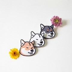 시바견,고양이 자수 브로치 - 8type