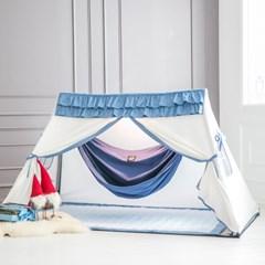 힌트 플레이하우스 화이트 프릴지붕 + 누빔매트