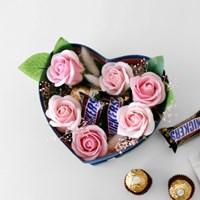 발렌타인데이 초콜릿 플라워 하트박스(중)
