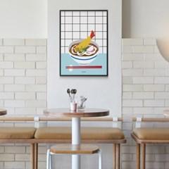 일본 유니크 인테리어 디자인 포스터 M 새우튀김우동 일본소품