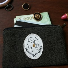 DIY) 귀걸이를 한 여인의 카드지갑 만들기