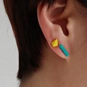 컬러 도형 귀걸이 세트