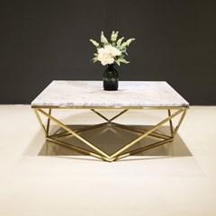 멜라니 이태리 천연 대리석 거실 소파 테이블
