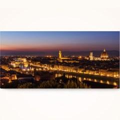캔버스액자 /CAS552-이탈리아 피렌체의 밤-와이드 대형 거실액자
