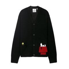 [SS18 Peanuts] Snoopy House Cardigan(Black)_(599980)