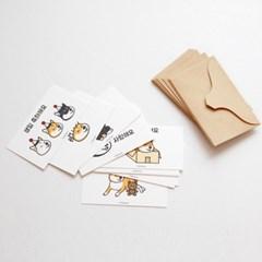 시바견 메세지 카드 (10세트)