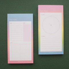 By Gradation TIME FRAME PAD SCHEDULE - M