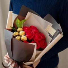 발렌타인 로즈 초콜릿꽃다발_(560243)