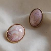 [치즈달] 148 - pink marble earring