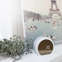 오아 무드미러클A 디지털 LED 탁상시계 거울 무드등 OA-ET015