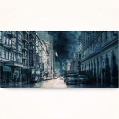 캔버스액자 /CAS558-스톰 도시의 폭풍- 가로 와이드 대형 거실액자