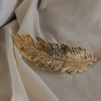 [치즈달] vintage feather hair clip