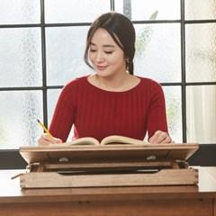 명품 독서대 각도조절 보조책상 600 오크 필기독서대