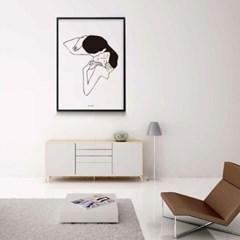 미니멀 인테리어 디자인 포스터 M 드로잉연인6 클림트 키스