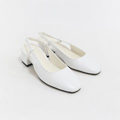 Classy middle heel sling back