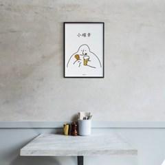 유니크 인테리어 디자인 포스터 M 소확행 치맥 치킨과맥주