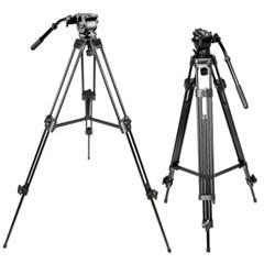본젠 VT-938Q 방송용 비디오 삼각대 + KV-374 카메라 슬라이더 SET