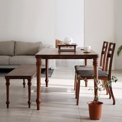 BOIS_월넛 테이블02+벤치02