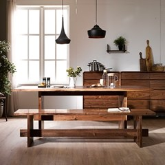 BOIS_월넛 테이블01+벤치01