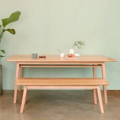 COOP_오크 테이블06+벤치01