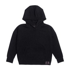 EMBROIDERED LUREX HOODIE - BLACK