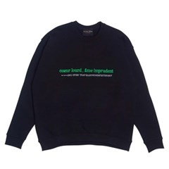 EMBROIDERED IMPRUDENT SWEATSHIRT - BLACK