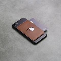 SMCL 스마트폰 부착형 카드지갑 / 각인 / 브라운