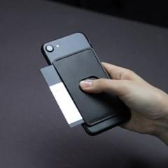 SMCL 스마트폰 부착형 카드지갑 / 각인 / 블랙