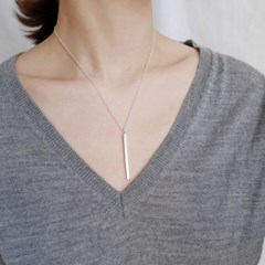[925silver] 실버 스틱 목걸이 silver stick necklace