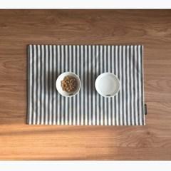 [1013PROJECT] 강아지 고양이 식기 식탁 매트(방수) _ 스트라이프