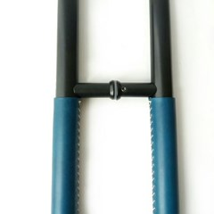 H아날로그 가죽손잡이(블루),강화도어손잡이