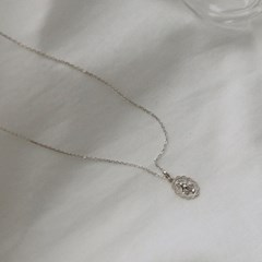 silver maria necklace (lace)