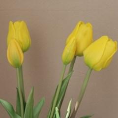 [포홈]옐로우 튤립 부쉬 (조화/꽃/leaf)_(1155147)