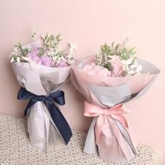 파스텔 목화 조화 꽃다발(2color)_(1111909)