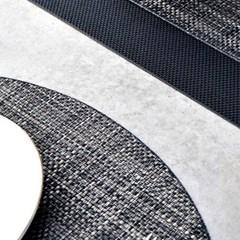 타원 방수식탁매트 골드블랙