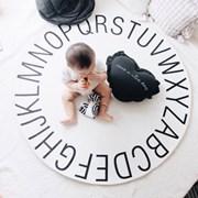 알파벳 원형러그 120cm