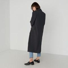 simple double button long coat