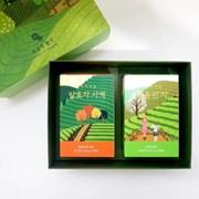 보성녹차밭 일러스트 선물세트 - 보성의 향기(처음딴차,발효차)