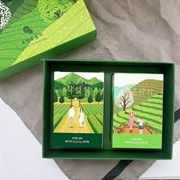 보성녹차밭 일러스트 선물세트 - 보성의 봄차(처음딴차,작설차)
