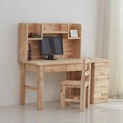 [잉카] 삼나무 원목 편수 책상 세트