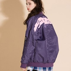 PAINTING OVERFIT MA-1 JACKET PURPLE