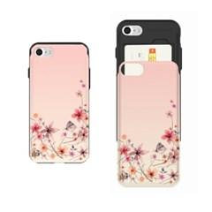 NBH-0149 수채화꽃 나비 로즈연 슬라이더케이스