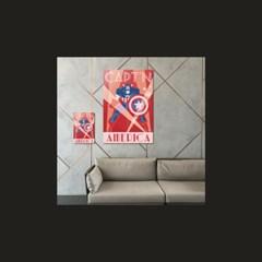 [MARVEL] 마블코믹스 정품 레트로아트 포스터 - 캡틴아메리카 #1