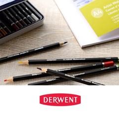 더웬트 아카데미 수채 색연필 24색 틴케이스