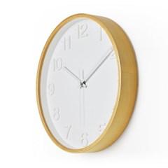 에바. 저소음 넘버벽시계(White Natural)