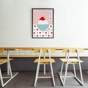 일본 인테리어 디자인 포스터 M 얼음빙수2 일본소품