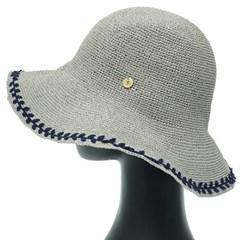 [더그레이]DKP11.밀짚 나뭇잎 여성 여름 비치 모자